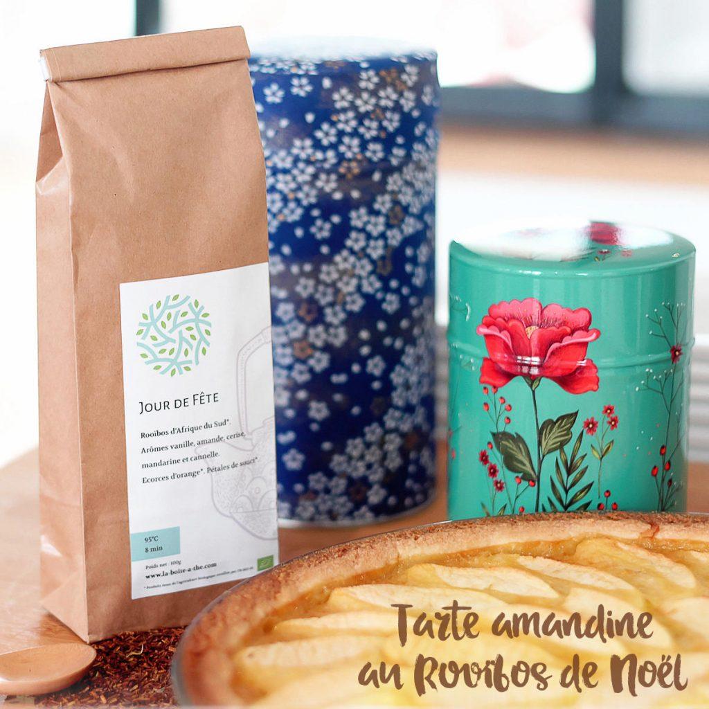 Recette exclusive de la tarte amandine au Rooïbos de Noël