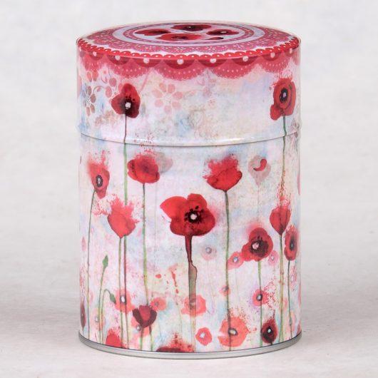 Boîte à thé luxe Poppies
