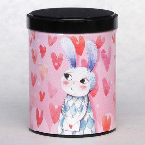 Boîte à thé Lapin d'amour
