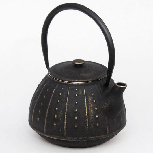 Théière fonte noir/or