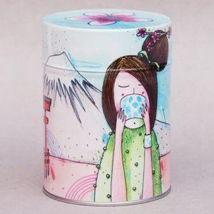 Boîte à thé Femme au thé