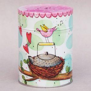Boîte à thé Théière dans un nid