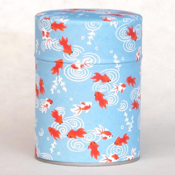 Boîte à thé washi Ao gyo