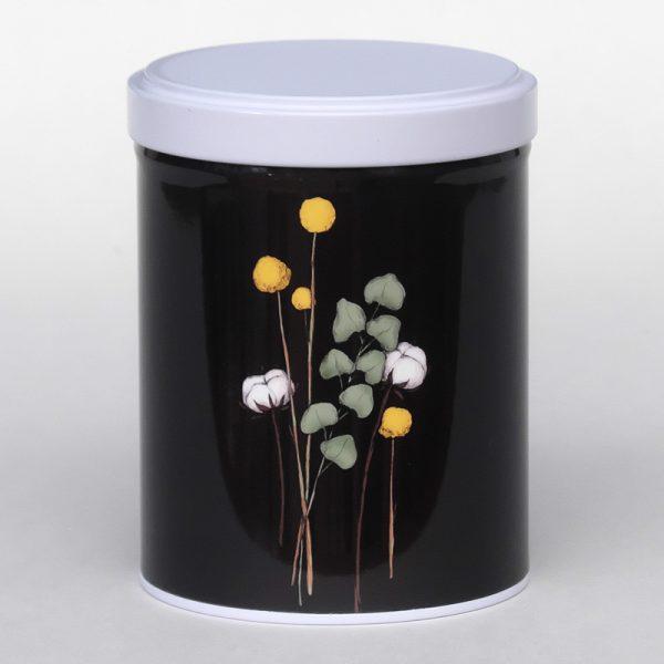 Boîte à thé d'artiste empilable – Fleurs de coton