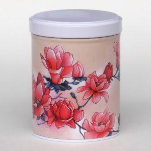 Boîte à thé d'artiste empilable – Magnolias