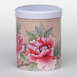 Boîte à thé d'artiste empilable– Pivoines