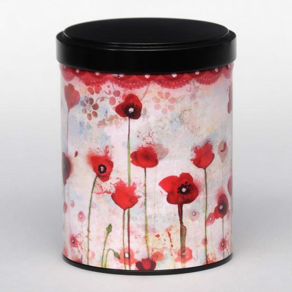 Boîte à thé d'artiste empilable – Poppies