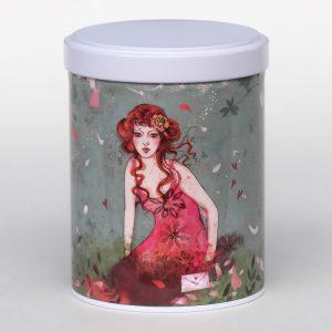 Boîte à thé d'artiste empilable - Secret garden