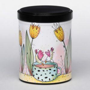 Boîte à thé d'artiste empilable – Tulipes
