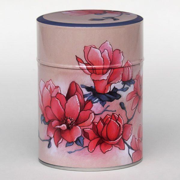 Boîte à thé luxe d'artiste – Magnolias