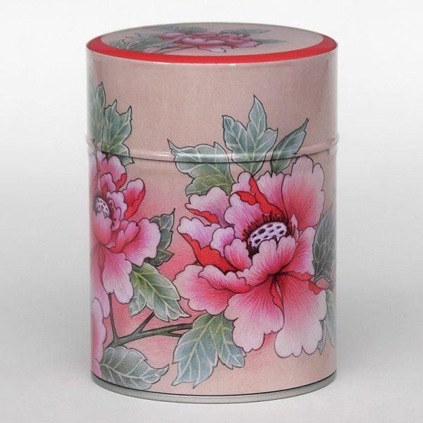 Boîte à thé luxe d'artiste – Pivoines