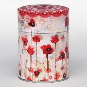 Boîte à thé luxe d'artiste – Poppies