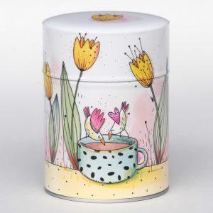 Boîte à thé luxe d'artiste – Tulipes