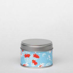 Petite boîte à thé washi – Ao gyo