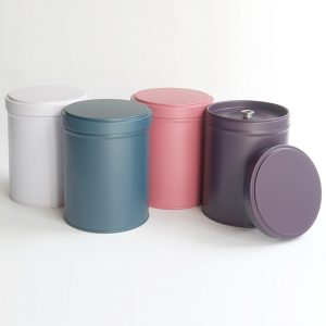 Boîtes à thés unies - 4 couleurs