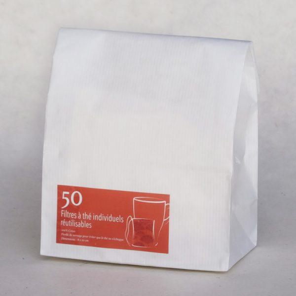 Filtre thé textile réutilisable - coton