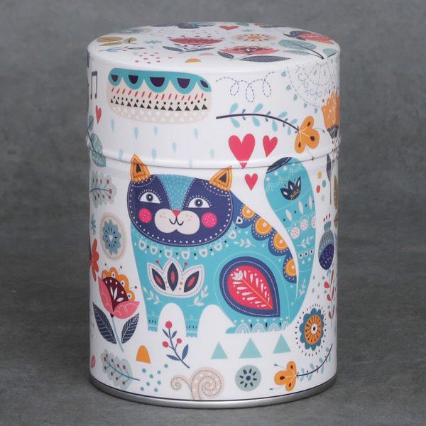 Boîte à thé Cat & Flowers