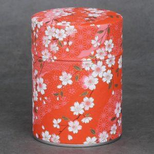 Boîte à thé washi Akai