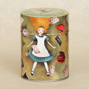 Boîte à thé illustrée Alice