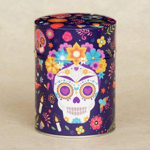 Boîte à thé illustrée Dia de los muertos