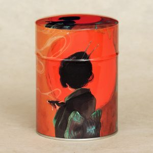 Boîte à thé illustrée Japan