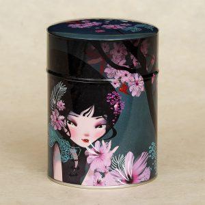Boîte à thé illustrée Jardin aux carpes - Anna Ziliz