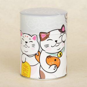 Boîte à thé illustrée Maneki Neko