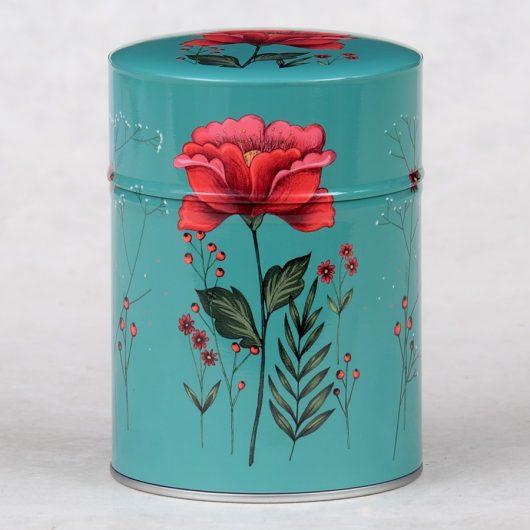 Boîte à thé Fleur rouge