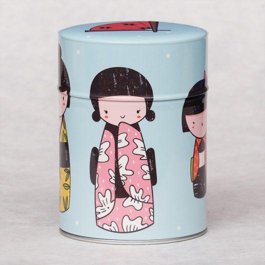 Boîte à thé Kokeshis