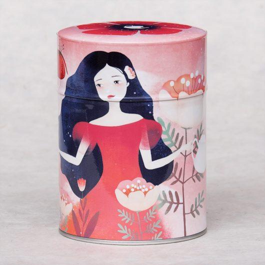 Boîte à thé illustrée Tea Garden