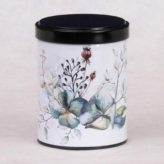 Boîte à thé d'artiste Bouquet d'Hortensias
