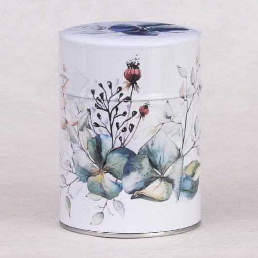 Boîte à thé illustrée Bouquet d'Hortensias