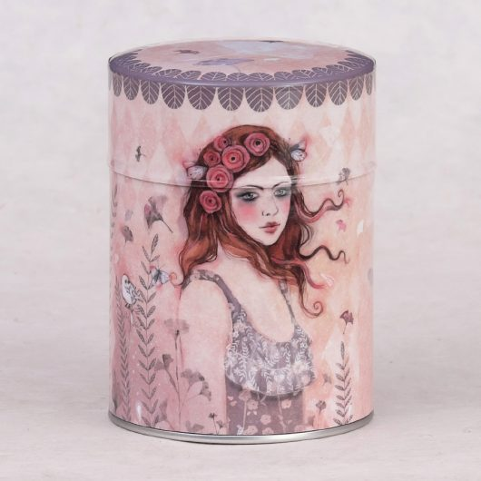 Boîte à thé illustrée Ginko