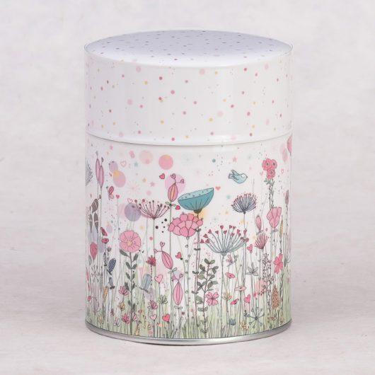 Boîte à thé illustrée Jardin Enchanté