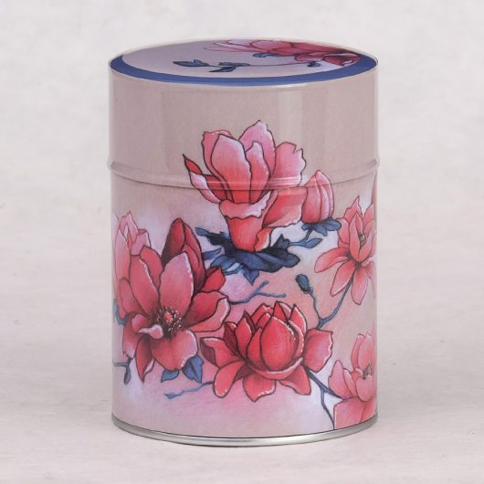 Boîte à thé illustrée Magnolias