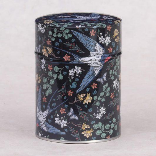Boîte à thé illustrée Tsubame
