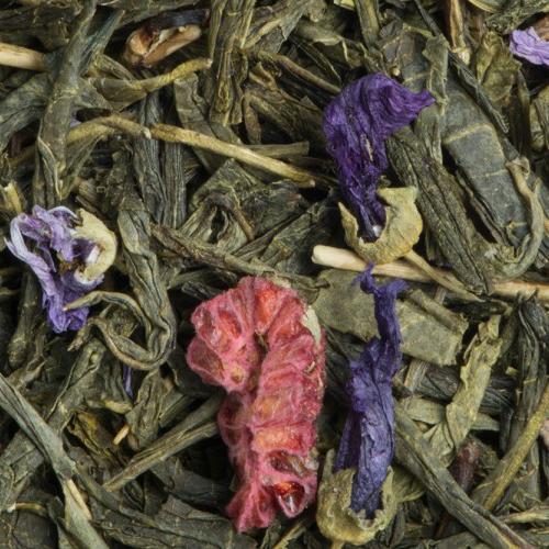 Thé vert et blanc Framboise Violette