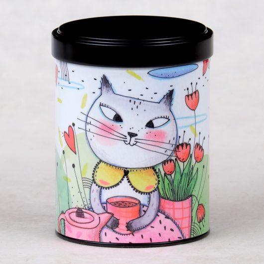 Boîte à thé Chatte au thé