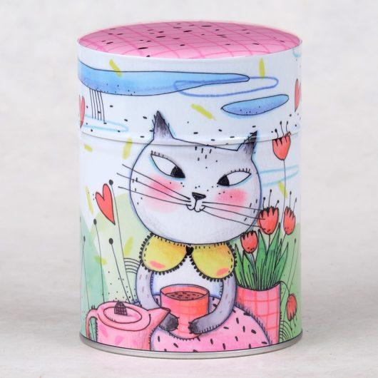 Boîte à thé luxe Chatte au thé